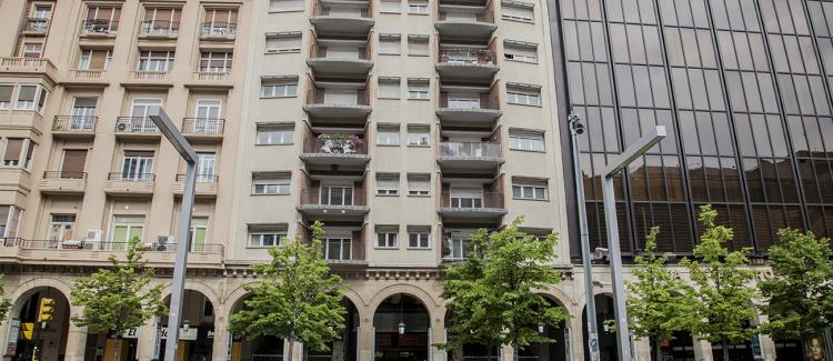 Fachada edificio oficinas y viviendas Paseo Independencia 12, Zaragoza